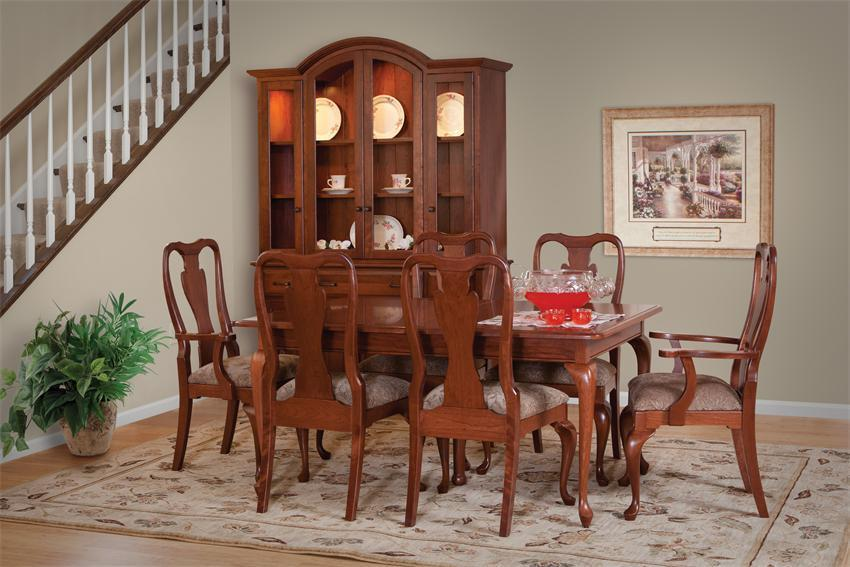 Rectangular Queen Anne Dining Table, Queen Anne Style Dining Room Table