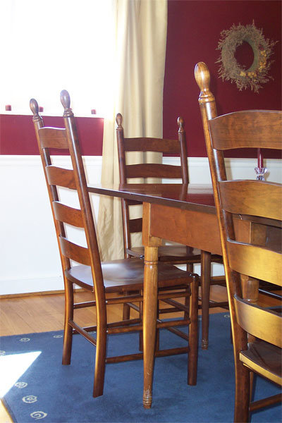 ladder back dining chairs | shaker ladderback chair