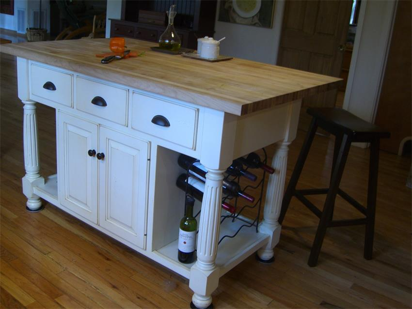 Amish Made Large French Country Kitchen Island