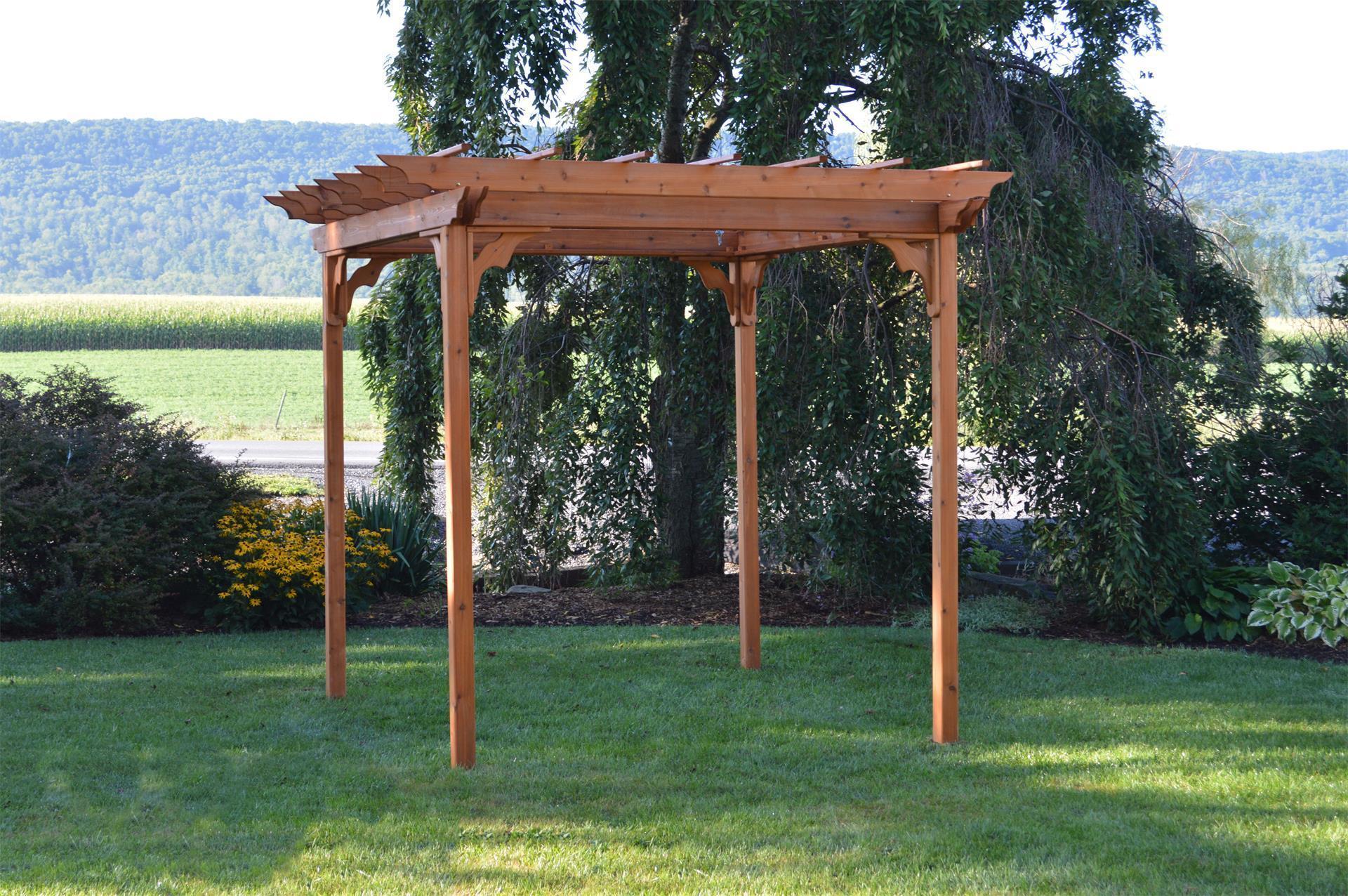 Amish Cedar Wood Pergola Kit