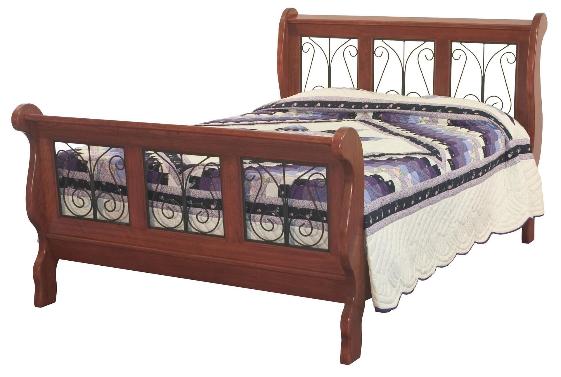 Classic Wrought Iron Sleigh Bed From Dutchcrafters Amish Furniture