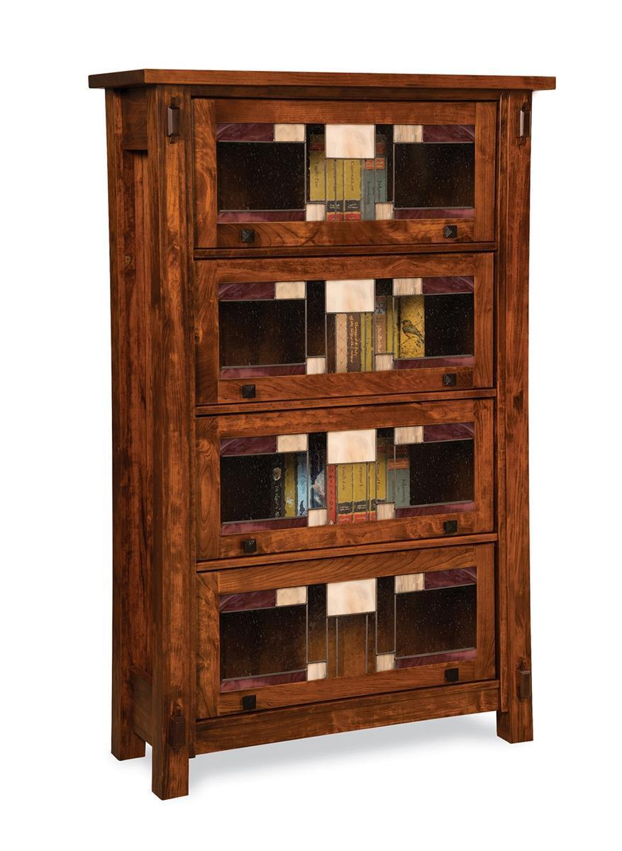 Amish Craftsman Barrister Bookcase With Four Doors