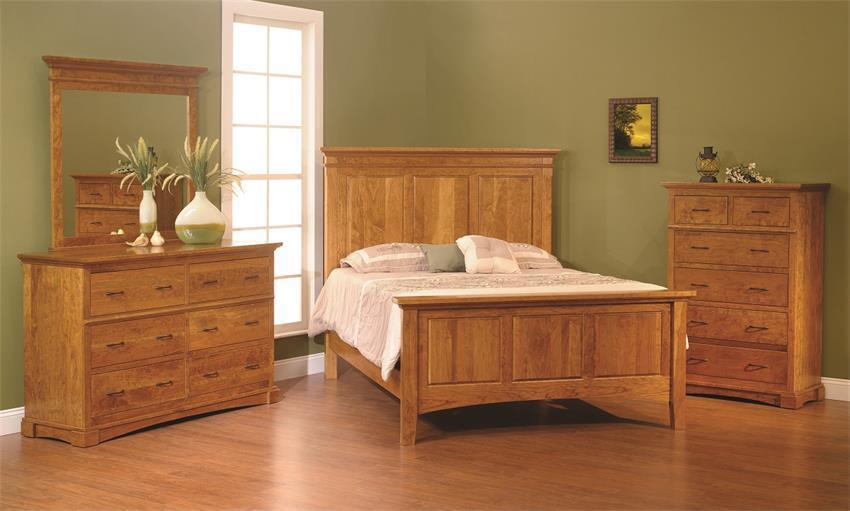 Crystal Lake Three Piece Bedroom Set In Rustic Cherry From
