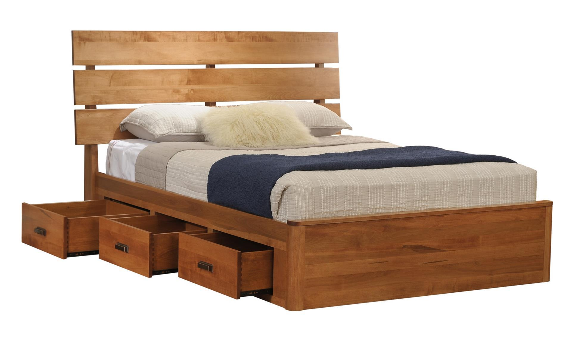 Galaxy Slat Platform Bed With Drawers From Dutchcrafters