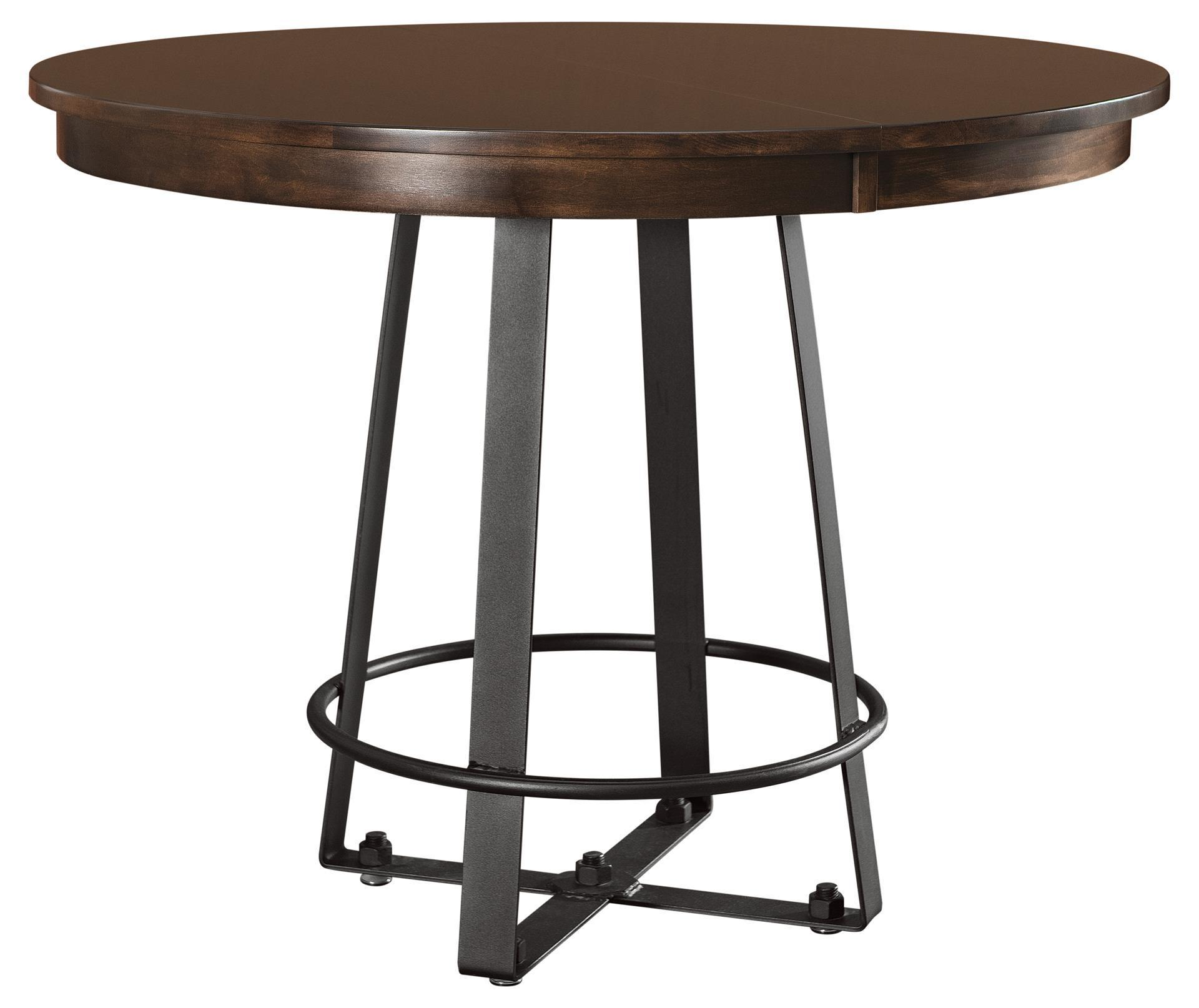 Iron Craft Round Dining Table From Dutchcrafters Amish Furniture