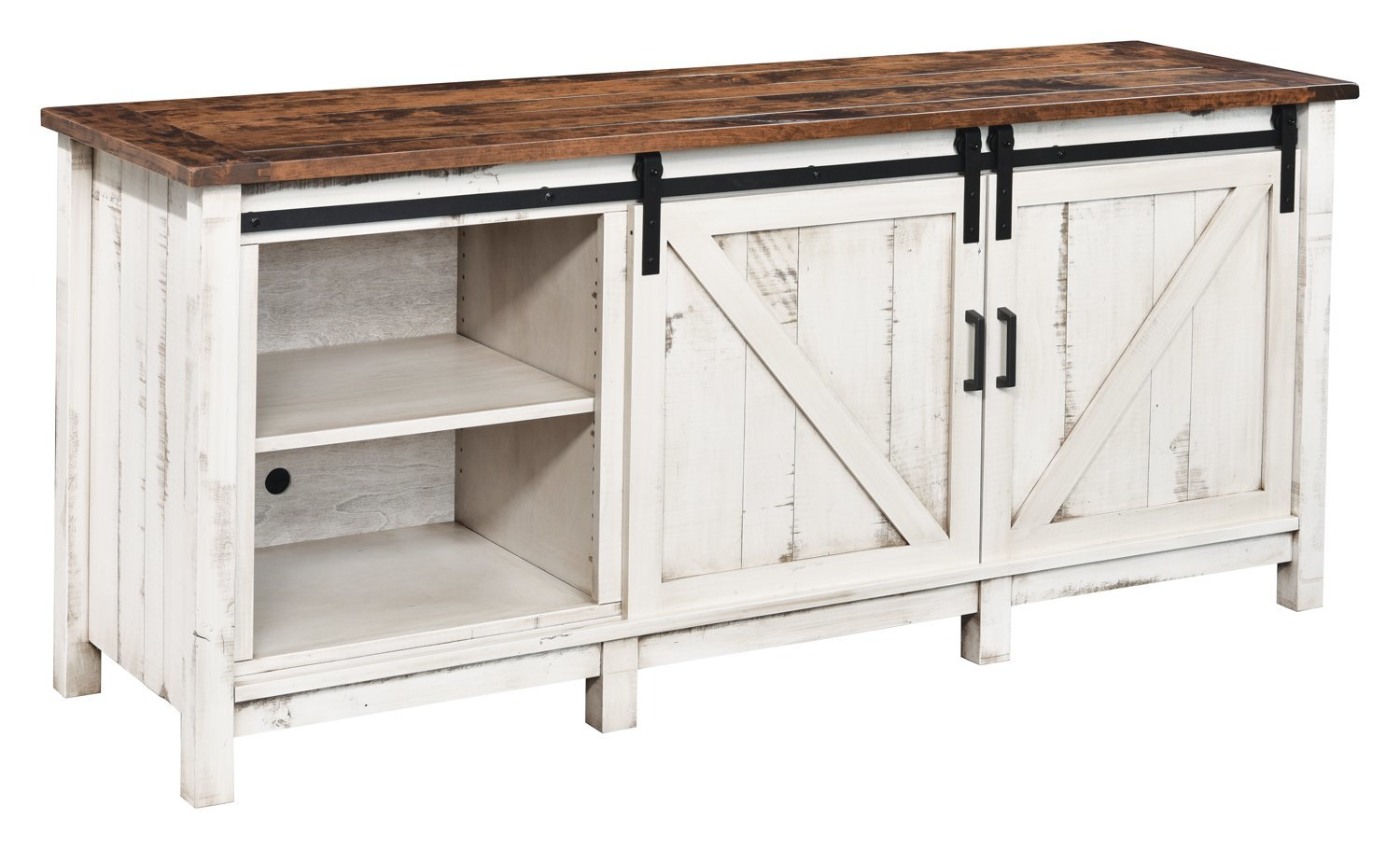 Tv Stand With Sliding Barn Doors From Dutchcrafters Amish Furniture