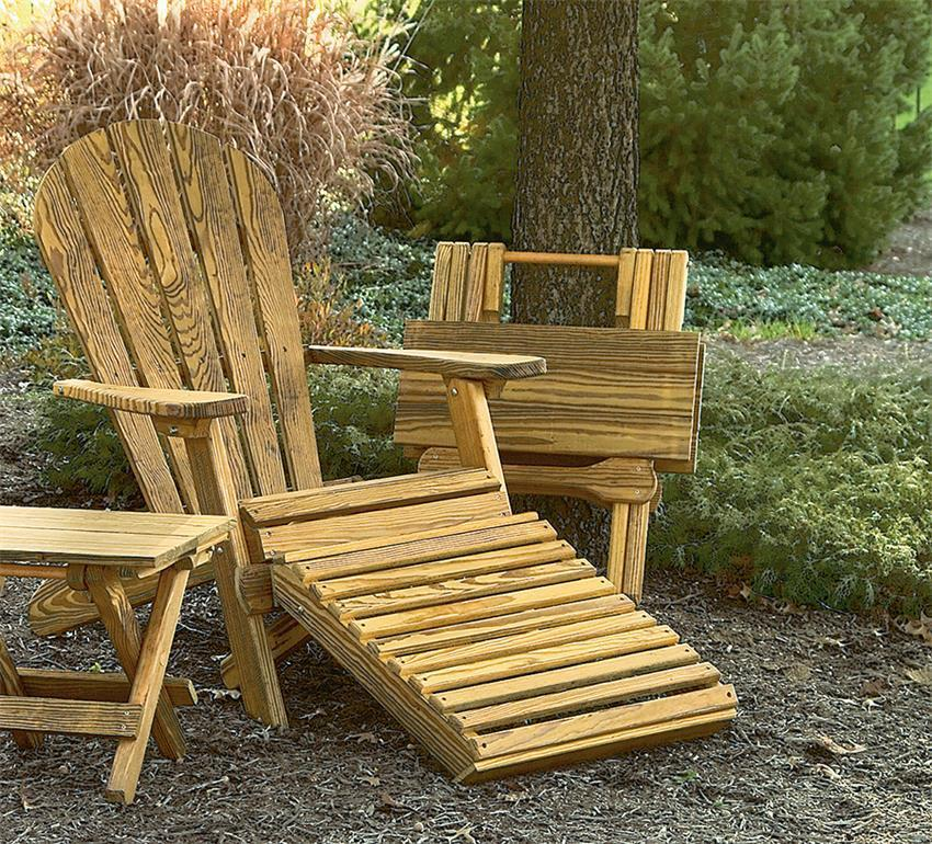 Shop the look - Amish Pine Wood Folding Outdoor Furniture