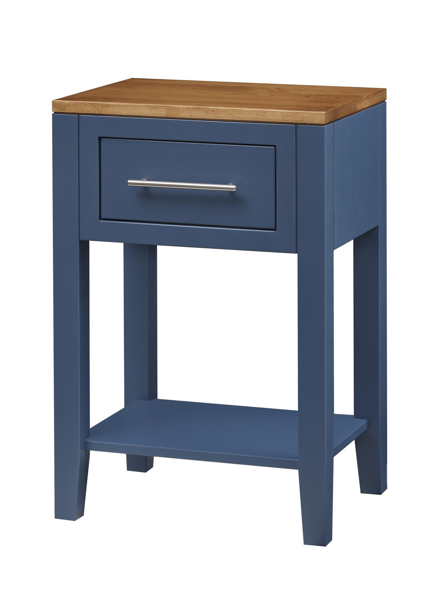 Amish Tuscany One Drawer Night Stand With Bottom Shelf