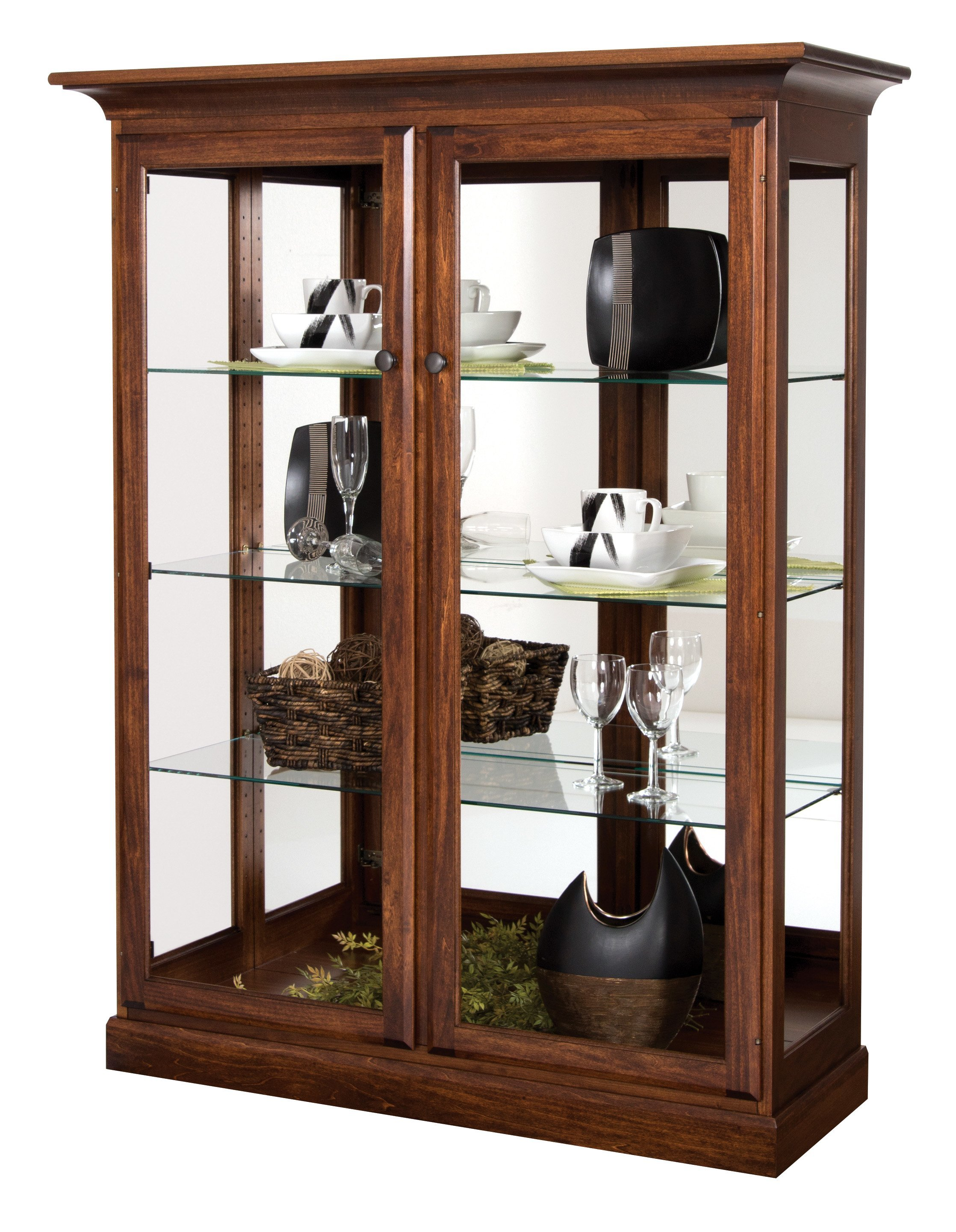 Two Door Transitional Curio Cabinet