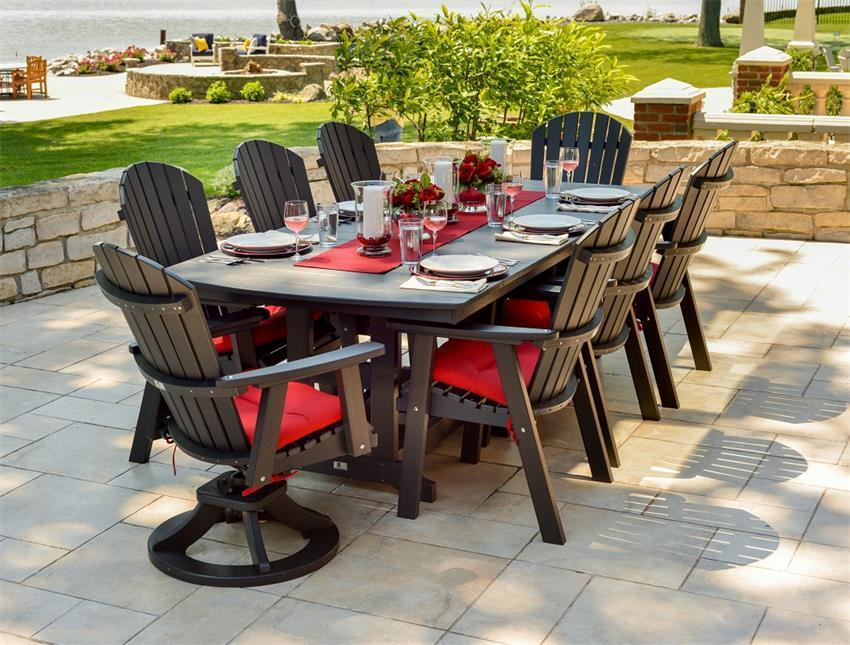Berlin Gardens 44 X 96 Classic Outdoor Dining Height Table From
