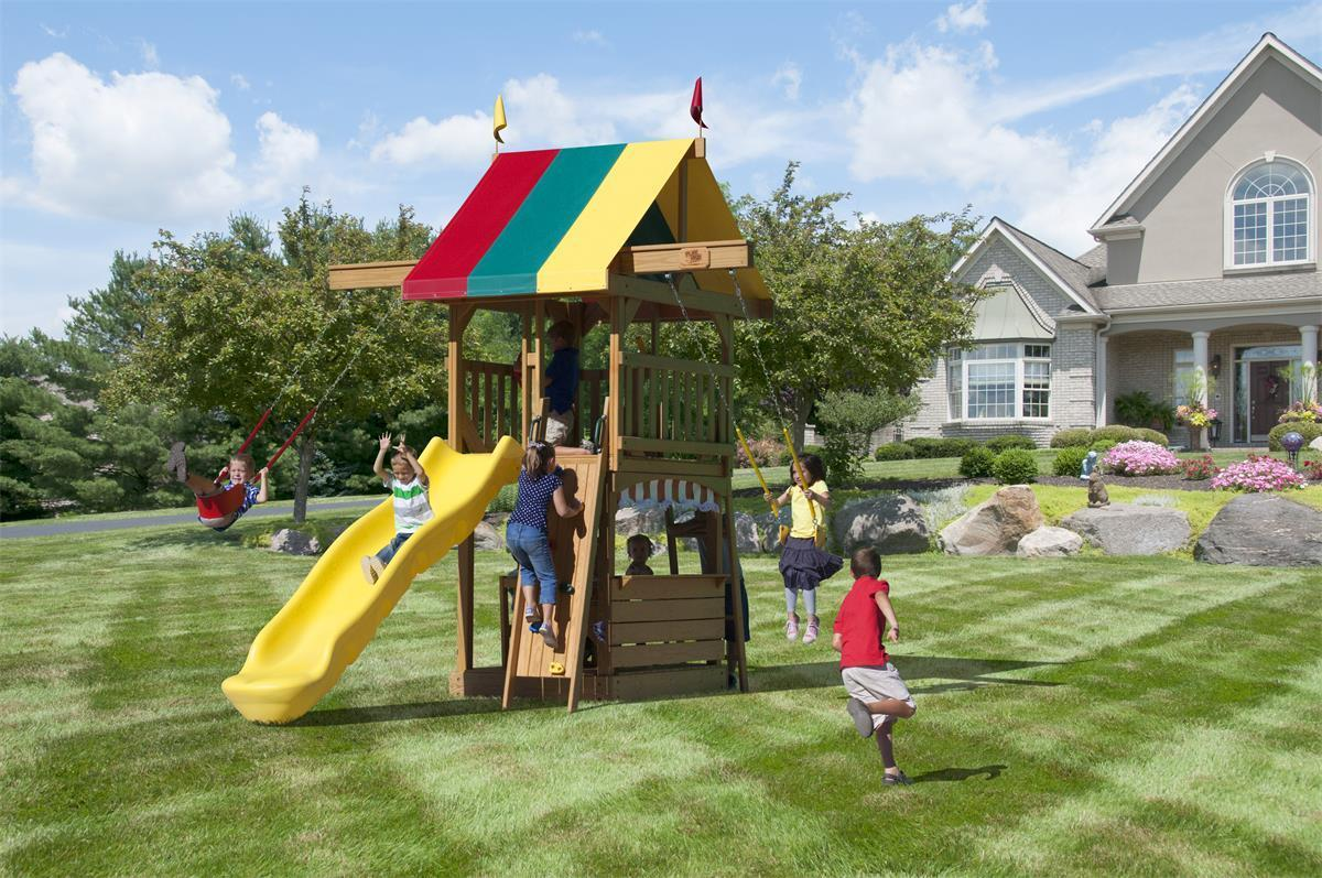Big Space Saver Swing Set By Dutchcrafters Amish Furniture