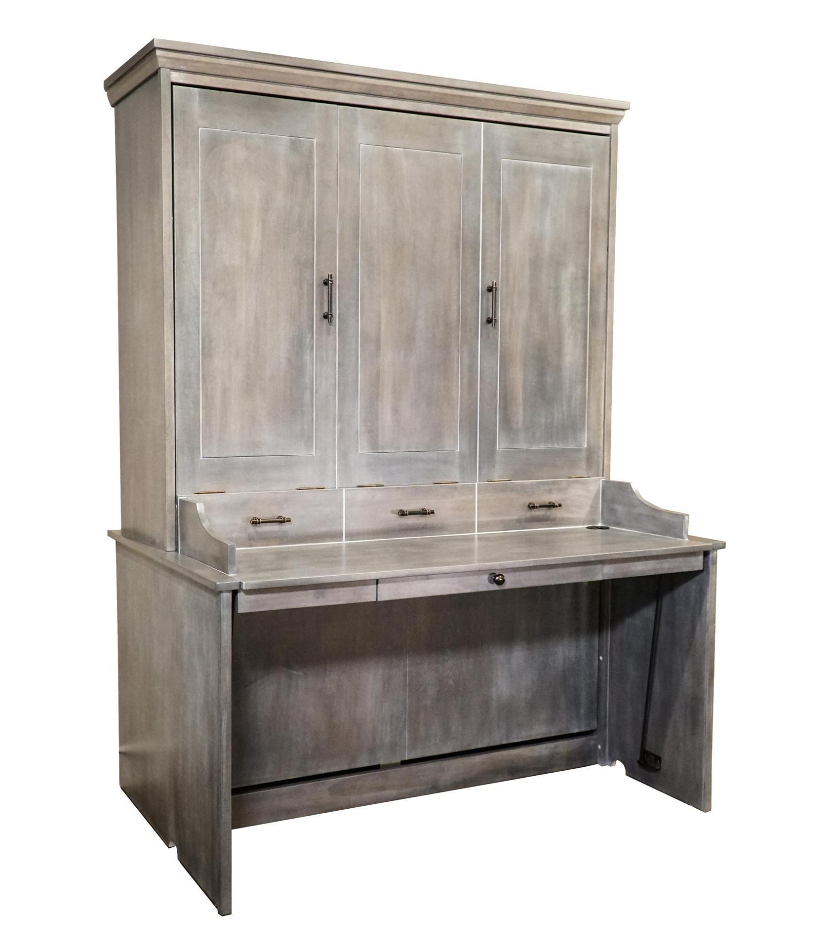 Murphy Wall Bed And Desk Exclusive From Dutchcrafters Amish Furniture